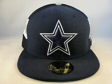 NFL Dallas Cowboys New Era 59FIFTY Fitted Hat Cap Jersey Stripe Navy Gray White