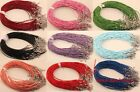 10pcs/100pcs Lots Charms Real Leather Cord Chain Necklace with Lobster Clasp 2mm
