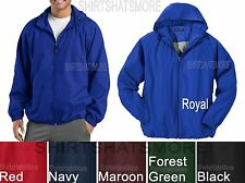 Mens Hooded Full Zip Jacket Windbreaker with Pockets Water Resistant XS-6XL NEW
