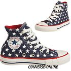 Kid Boy Girl CONVERSE All REPEAT STAR HI TOP Blue White Trainers Boot SIZE UK 11