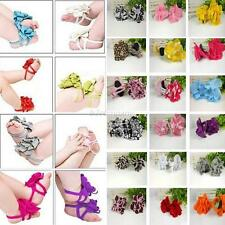 Stylish Baby Girls Flower Shoes Barefoot Sandals Socks Toe Blooms Shoes 0-12 B62