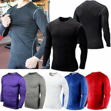 Mens Boys Sport Compression Armour Thermal Base Layer Gear Under Shirt Top Skins