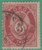 Norway 18 Very FINE NO FAULTS ! 1872 Great Stamp !