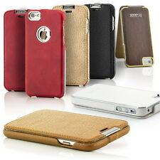 Original iCareR Flip Case Real Genuine Leather Cover Hard Bumper Protect Wallet