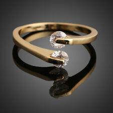 Fashion Women Jewellery Crystal Engagement Ring 18K Gold Filled USA 6/7/8/9 Size
