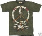 PEACE PIPES American Indian T-Shirt The Mountain Tie-Dye Tee 100% Cotton XL NEW
