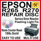 Epson Stylus R265 Waste Ink Pad Counter Printer Reset - Repair Disc