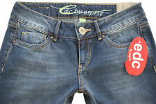 NEU! EDC BY ESPRIT JEANS BOOTCUT WASHED-USED-JEANS DAMEN PLAY FIT