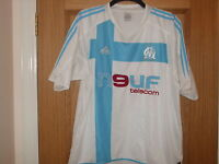 Olympic Marseille - Home Football Shirt - Adidas - XL - Mint/New - Fast Postage
