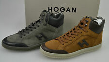 HOGAN H168 SCARPA SNEAKER/POLACCO UOMO-MAN POLISH SHOES CARBONE/CUOIO - CARBON