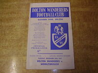 1967/68 DIVISION TWO - BOLTON WANDERERS v MIDDLESBROUGH