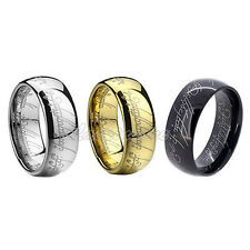 New Arrival Lord of the Ring The One Ring Gold Stainless Steel Men Band Ring N31