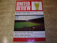 1968/69 DIVISION ONE - MANCHESTER UNITED v WEST HAM UNITED