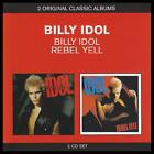 BILLY IDOL (2 CD) S/TITLED + REBEL YELL ~ 80's PUNK POP ~ WHITE WEDDING ++ *NEW*
