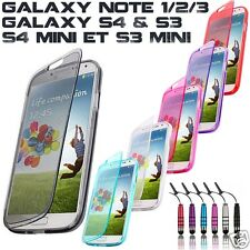 COVER CUSTODIA SILICONE GEL SAMSUNG GALAXY S4 S3 NOTE 1/2/3 S4,S3 MINI+PELLICOLA