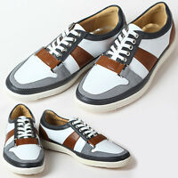 New Unique Mens Sneakers White Comfort Casual Lace Up Shoes