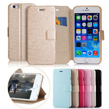 Slim Stand Wallet Flip Case Cover Leather Card Slot For Apple iPhone 4 5 6 6Plus
