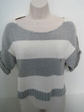 AEROPOSTALE Women's Gray Striped Cropped Sweater Size M,L,XL NWT