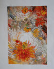 New Completed 100% Hand-made Cross Stitch Painting 52CM Orange Flowers (HSC-190