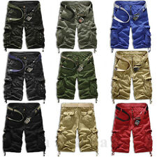 Mens Military Army Combat Shorts Tactical Work Pocket Camo Pants Cargo Trousers