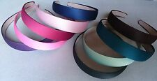 NEW 2.5cm WIDE SATIN LOOK FABRIC COVERED HEADBAND ALICE HAIR HEAD BAND ALICEBAND