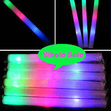 15/60/75 PCS Light-Up Foam Sticks Flashing LED Baton Rave Party Multi-Color Wand