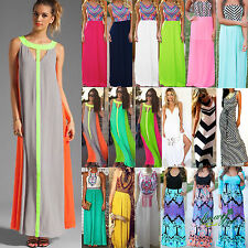 BOHO Summer Womens Maxi Long Dress Cocktail Evening Party Floral Prom Beach New