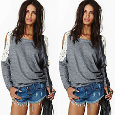 2015  Fashion New  Women's Loose Long Sleeve  Casual Blouse Shirt Tops Blouse