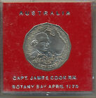 Coin 1970 Australia Captain Cook 50c piece choice SPECIMEN grade in red holder