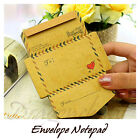 Novelty Notepad Vintage Style Envelope Memo Note Message Pad UK