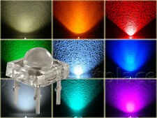 SuperFlux LED 5mm 90° Blau,Rot,Grün,Gelb,Orange,Weiß,Pink,Lila Piranha High Qual