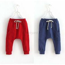 Baby Workout Bottoms Kid Toddler Child Harem Pants Boy Girl Elastic Trousers F76