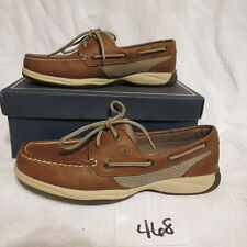 Women's Sperry Top-Sider Intrepid Tan Leather Boat Shoe  (9774811)