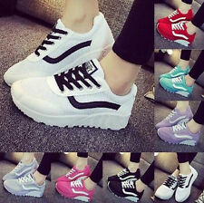 2015 Womens Mesh Sport Sneakers breathable Running Shoes Wedge Casual Chic Boots