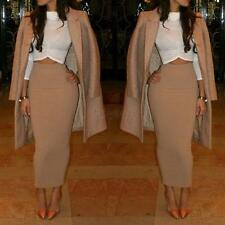 Ladies Stylish High Waist Pencil Skirt Bodycon Midi Dress A-line Skirt S-XL F52
