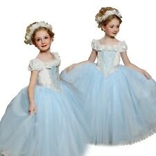 Kids Girls Princess Cinderella Fancy Outfit Costume Elsa Party Dress With Cape