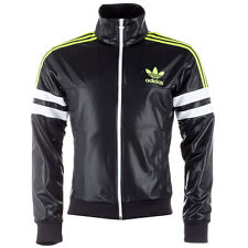 Mens New Adidas Originals Chile 62 Retro Tracksuit Top Track Jacket - Black