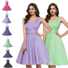 CHEAP 1950S 60S ROCKABILLY SWING PIN UP PARTY RETRO VINTAGE PROM PLUS SIZE DRESS