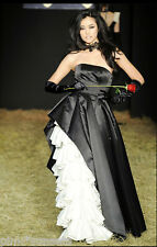 Betsey Johnson Duchess Windsor Gown Runway Black PInk Tulle Dress