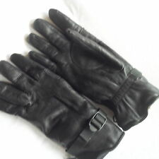BRITISH ARMY ISSUE LINED ADJUSTABLE BACK BLACK LEATHER COMBAT GLOVE S.95