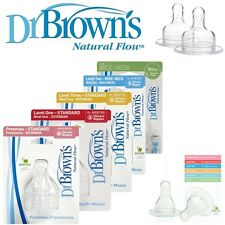 Dr Brown's Baby Infant Bottle Natural Flow Teats BPA Free Different Sizes
