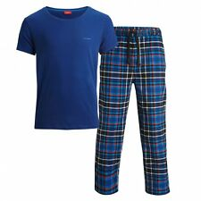 Bjorn Borg Men's Poison Check Pyjamas & T-Shirt Gift Set, Blue