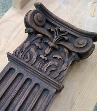 Carved oak ornate fireplace fire surround mantel old hand stain finish, replica
