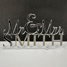 Personalised Mr & Mrs, Mrs & Mrs, Mr & Mr Wedding Cake Topper Free P&P Acrylic
