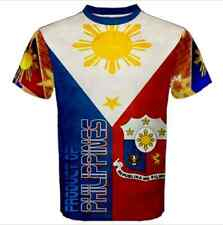 Product of PHILIPPINES coat of arms Filipino Country Flag Full Print T-SHIRT FL3