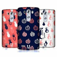 HEAD CASE DESIGNS FRUITY DOODLES HARD BACK CASE FOR LG PHONES 1