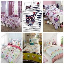 OWL THEMED DUVET COVER SETS AVAILABLE IN JUNIOR SINGLE & DOUBLE BEDDING FREE P+P