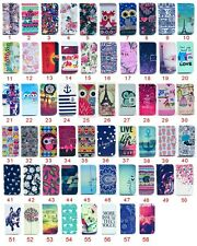 Printed Wallet Holder Card Flip PU Leather Cover Lovely Case For Samsung Galaxy