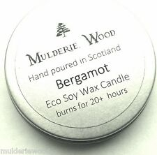 Citrus Bergamot Natural Soy Wax Tin Candle Handmade in The Highlands
