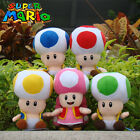 Super Mario Bros Plush Toy Toad Nintendo Game Character Stuffed Animal Doll NWT